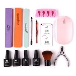 $enCountryForm.capitalKeyWord Australia - 20Pcs Manicure Tools Set Nail Kit 6W Nail Dryer UV LED Lamp Gel Polish Base No Wipe Top Coat Gel Varnish Sets & Kits
