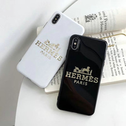 H Case Australia - Brand design printing letter H mobile phone case for iphone Xs max Xr X 7 7plus 8 8plus 6 6plus TPU soft shell