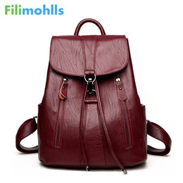 $enCountryForm.capitalKeyWord Australia - High Quality Leather Backpack Woman New Arrival Fashion Female Backpack String Bags Women Large Capacity School Bag S1737