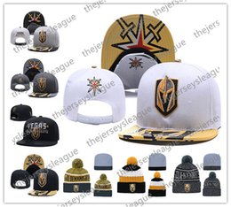 Wholesale Vegas Golden Knights Ice Hockey Knit Beanies Embroidery Adjustable Hat Embroidered Snapback Caps Black Gray White Stitched Hats