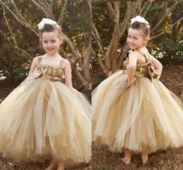 Princess Royal Puffy White Strap Australia - 2019 Puffy Tulle Flower Girls' Dresses for Weddings Spaghetti Straps Wedding Party Gowns Baby Toddler Princess Dress