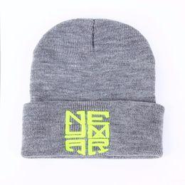 Neymar New Cap Australia - 2017 New Winter Warm Knitted Caps Neymar NJR Style Men's Skullies boy winter hip hop warm hats Women's Beanies 2 color Gorros