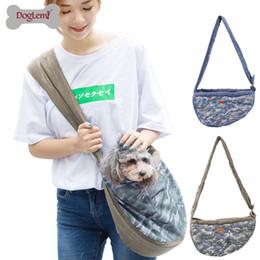 Blue Dog Carriers Australia - Breathable Camouflage Mesh Pet Sling Bag Dog Puppy Cat Travel Shoulder Bag