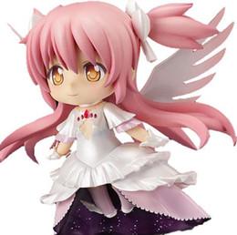 "Madoka Magica Figures Australia - 4"" Nendoroid Puella Magi Madoka Magica Anime Magical Girl Ultimate Kaname Madoka Boxed PVC Action Figure Model Doll Toys #285"