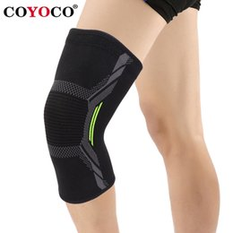 elastic knee sleeve support Australia - 1 Pcs Sports Knee Pad Sleeve Support Protect Kneepad COYOCO Brand Running Cycling Gym Braces Elastic Knee Warm Black Green