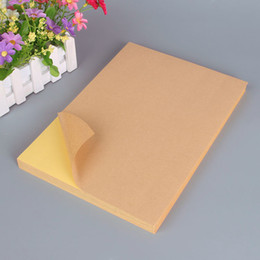 labels a4 UK - Factory Price Kraft Shipping Labels A4 Self Adhesive Sticker Paper Glossy Matt DIY Blank Sticker Paper Label Printing Paper 100 Sheets Bag