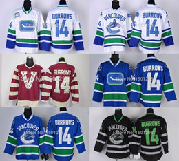 49a5ab012 2016 Mens  14 Alexandre Burrows Ice Hockey Jerseys Vancouver Canucks Jersey  Home Blue 40th White Black Red Cheap Vancouver Canucks Jerseys