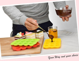food grade silicone mold ice NZ - Hoomall Tray 100% Food Grade Silicone Mold Chocolate 12 Grids Soft Jelly Pudding Mould Ice Cube Maker Ice cube baking mold