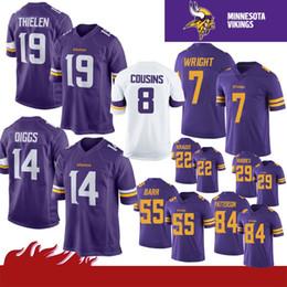 a8e47c4cbd4 14 Stefon Diggs 8 Kirk Cousins 19 Adam Thielen Minnesota Jerseys Vikings 22  Harrison Smith 33 Dalvin Cook 21 Barr 84 Randy Moss new Rhodes