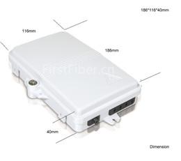 Toptan satış FTTH 4 Çekirdek Fiber Optik Sonlandırma Kutusu 4 port optik fiber dağıtım FTTX Fiber Optik Kutu Splitter Kutusu