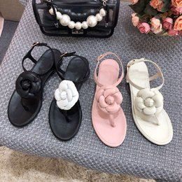 $enCountryForm.capitalKeyWord Australia - 2019 Brands Women Bow knot Flat Slippers sandals Girls Flip Flops Summer Shoes Cool Beach Slides Jelly Shoes 35-40 xf190520