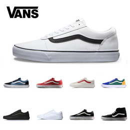 a9b72f1dd2b Brand Vans Old Skool For Men Women Casual Shoes Canvas Sneakers Black White  Red Blue Fashion Cheap Sport Skateboard Shoe Free Shipping