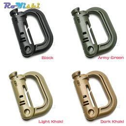 $enCountryForm.capitalKeyWord Australia - 10pcs lot Molle Tactical Backpack EDC Shackle Carabiner Snap D-Ring Clip KeyRing Locking Buckle
