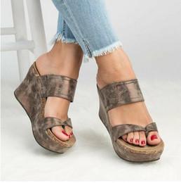 $enCountryForm.capitalKeyWord Australia - Wedges Shoes For Women Sandals Plus Size High Heels Summer Shoes 2019 Flip Flop Chaussures Femme Platform Sandals Wedge Slippers
