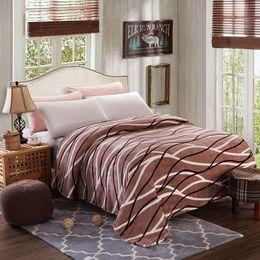$enCountryForm.capitalKeyWord Australia - Cheap High quality 200x230cm throw blanket fleece blanket on the bed ,soft winter flannel blanket for sofa warm bedspread