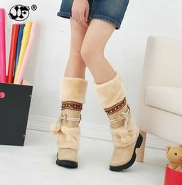 Purple Martin Boots Australia - 2018 NEW Winter Warm martin boots Thickened Fur High Heel Boots Women Shoes Fashion Sexy Long snow boots size 996