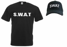 $enCountryForm.capitalKeyWord NZ - Unisex BlaBrand SWAT Police Riot Team Special Forces Squad Cap & T-Shirt Set