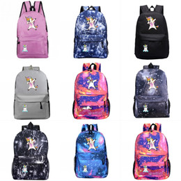 $enCountryForm.capitalKeyWord NZ - 40 Styles Cute Lightweight School Boobag 201908 Kids Cartoon Unicorn Backpacks Outdoor Travel Bags for Women Men Girls Boys Backpack M197F