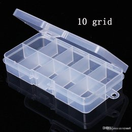 $enCountryForm.capitalKeyWord Australia - Nail box Container 10 grid Plastic Box Practical Adjustable Compartment Jewelry Bead storage case Screw Holder Case Display Organizer
