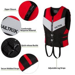 ball jackets Canada - Neoprene Life Jacket Adult Life Vest Water Sports Fishing Vest Kayaking Boating Swimming Drifting Safety Life Vest Fitness Balls