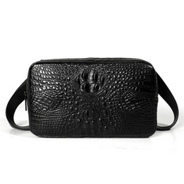 $enCountryForm.capitalKeyWord UK - Designer-Genuine Leather Men Bags Fashion Crocodile Pattern Man Crossbody handbag Shoulder Bag Men's waist bag Men Clutch Bags male purse