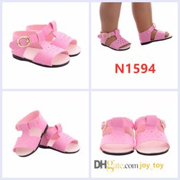 Shoes For American Girl Dolls Australia - american girl doll sandals 18 inch Shoes Summer Beach Flats Sandals Fashion shoes for 18 inch Doll