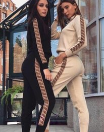 $enCountryForm.capitalKeyWord Australia - Fashion Casual Autumn Spring Womens F Letter Tracksuits Long Sleeved Two-piece Jogger Set Ladies Fall Sweat Suits Black Plus Size S-XL TS06
