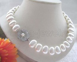 "$enCountryForm.capitalKeyWord Australia - Prett Lovely Women's Wedding FREE shipping> >>>Beautiful 17.5 "" 16mm bright white south sea shell pearl necklace - shell clasp"