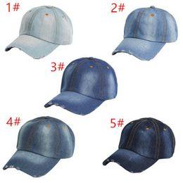 Vintage cowboy hats wholesale online shopping - JUXU Summer Vintage Women Cowboy Baseball Cap Ladies Snapback Hats Denim Jeans Leisure Travel Caps Sun Hat Colors