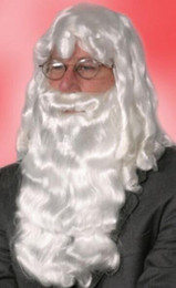 $enCountryForm.capitalKeyWord Canada - FREE SHIPPING++ + DELUXE WHITE SANTA CLAUS WIG AND BEARD SET CHRISTMAS COSTUME ADULT MENS WIG