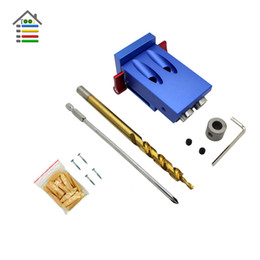 """$enCountryForm.capitalKeyWord Australia - system tool AUTOTOOLHOME 2 Holes Pocket Hole Jig Kit System For Kreg 9mm 3 8\"""" Step Drill Bit Screw Set fit Woodworking Joinery"""