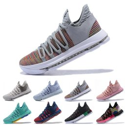 online store 399c3 85668 New Zoom KD 10 Anniversary PE BHM Oreo triple Men Basketball Shoes KD 10  Elite Low Kevin Durant Athletic Sport Sneakers size 7-12
