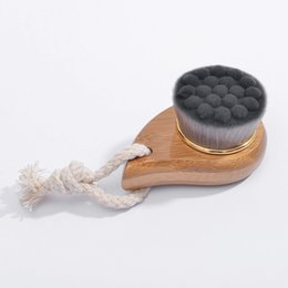 Wholesale Hot sale Manufacturers face cleaning brush natural bamboo plus ultra fine soft fiber cleansing makeup makeup