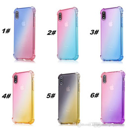 $enCountryForm.capitalKeyWord Australia - High Quality Gradient Colors Anti Shock Airbag Soft Clear Cases For iPhone XR XS MAX 8 7 Plus 6 6S Newest Arrival Cradle Design