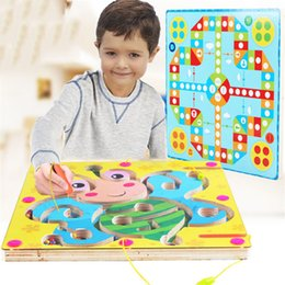 Tracking Pen Australia - Learning and Education Toys Wooden children's magnetic pen maze puzzle ball track early education baby toys