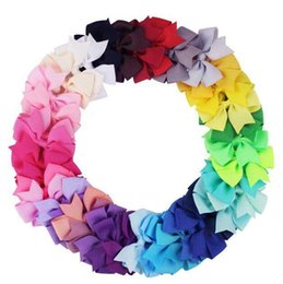 girl hair designs UK - Popular 40 Colors Girl BB Hair Bows Candy Colors 3.15 inch Bow Design Girl Clippers Girls Hair Clips Hair Accessory