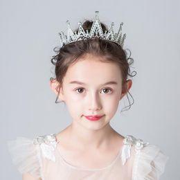 $enCountryForm.capitalKeyWord NZ - Children's hair accessories frozen bride crown tiara girl princess lovely Korean version pearl diamond crown wholesale