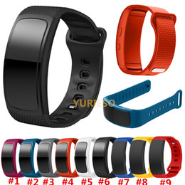 Smart Fitness Watches Australia - Replacement Bands for Samsung Fit 2 Smart Watch Elastomer Strap Silicone Wristband for Samsung Gear Fit 2 SM-R360 Fitness