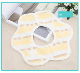 Gauze Scarf Cotton Australia - Safe And Healthy Bibs Cartoon Kids Petal Shape Scarf Baby Breathable Bib High-quality Pure Cotton Mouth Towels 6 Layer Gauze