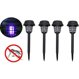 Wholesale Solar Powered LED Light Mosquito Pest Bug Zapper Insect Killer Lamp Garden Anti mosquito supplies mosquito killer light