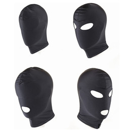 new bdsm games Australia - New Arrival Adult games Fetish Hood Mask BDSM Bondage Black Spandex Mask Sex Toys For Couples 4 Specifications To Choose C18112701