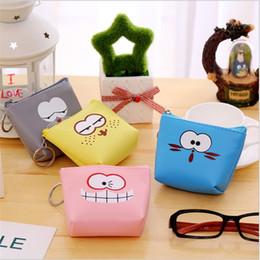 Wholesale Kids Cartoon Coin Purses Small Money Purse Designer Zipper Cartoon PU Leather Square Female Mini Bags Girls
