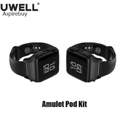 Cables system online shopping - Uwell Amulet Pod System Kit Watch Style ml Refillable Pod ohm Built in mAh Battery With Micro USB Cable Screen Rotating Original