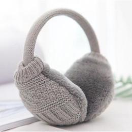 8c0c93277a3ec1 Top Sell Winter Ear Cover Women Warm Knitted Earmuffs Ear Warmers Women  Girls Plush Muffs Earlap Warmer Headband