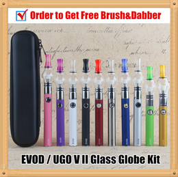 evod globe pen NZ - Pyrex Glass Globe Dab vape pens EVOD herbal Dry Herb Vaporizer Wax Pen electronic cigarette evod Passthrough oil vaporizer starter kits