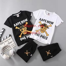 Round Skull NZ - 2019 cute t-shirt boys Clothing Summer Print Clothes Vestidos Cotton Party New B Royal Burglar Skull with Round Neck and Short Sleeves