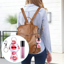 $enCountryForm.capitalKeyWord Australia - 10.2*5.5cm Neoprene Environmental Protection Lipstick Key Rings Holder Multi-colored lipstick Waterproof Keychain Lip Palm Holder Accessory