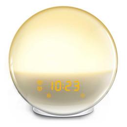 $enCountryForm.capitalKeyWord UK - Cheap Alarm Clocks New Sunrise Sunset Simulation Nature Sounds Sleeping Light Wake up Alarm Clock Working day Weekend 2 sets