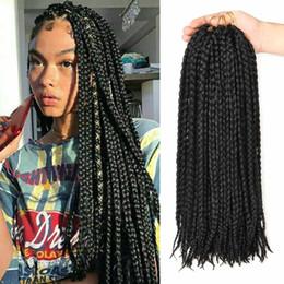 Box Braid Crochet Hair Australia - Box Braids Crochet Braids Synthetic Braiding Hair 12 Roots Crochet Hair Extensions Soft Dreadlocks Twist Hair
