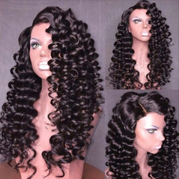 Highest Quality Human Hair Wigs Australia - Front lace human hair wig kinky curly with baby hair full lace wig bleached knots for black women unprocessed high quality
